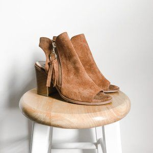 Forever 21 Open Toe Booties